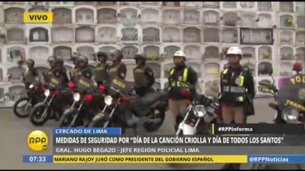 Más de 1,500 policías brindarán seguridad en cementerios de Lima