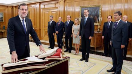 Mariano Rajoy juró como presidente del Gobierno español