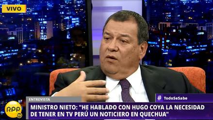 Ministro de Cultura anuncia que se emitirá un noticiero en quechua