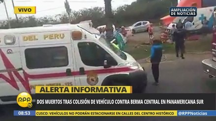 Dos jóvenes murieron en un accidente de tránsito en la Panamericana Sur