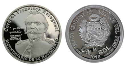 BCR lanza moneda de plata en homenaje a Francisco Bolognesi