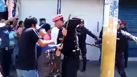 Chiclayo: ambulantes se enfrentaron con municipales durante desalojo