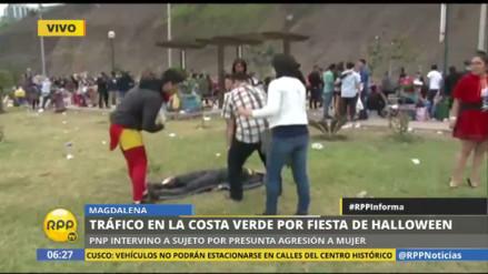 Fiesta de Halloween dejó a jóvenes inconscientes en la Costa Verde