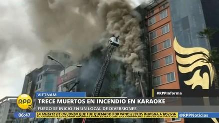 Al menos 13 muertos en el incendio de un karaoke en Vietnam
