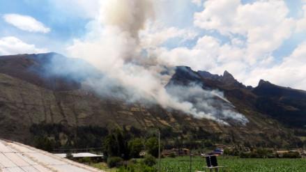 Dos muertos y tres heridos deja incendio forestal en Calca