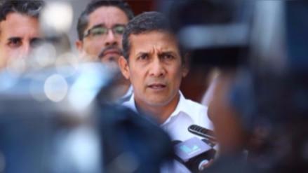 Fiscalía pide que Humala pague una caución de 50 mil soles