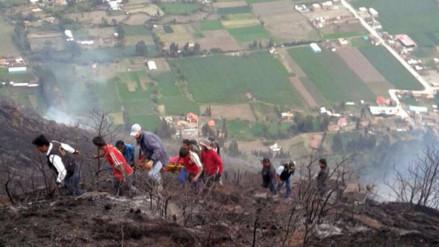 Calca: a tres se incrementó el número de fallecidos por incendio forestal