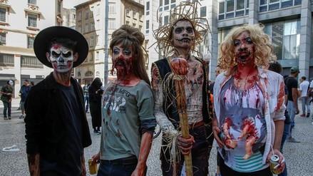 Los brasileños celebraron el Día de los Muertos con una marcha zombi