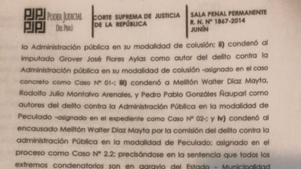 Jauja: ratifican sentencia contra exalcaldes acusados de corrupción