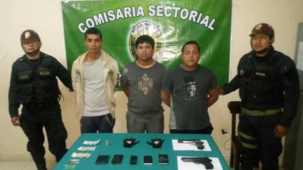PNP de Lambayeque captura a delincuentes que habían asaltado Mifarma