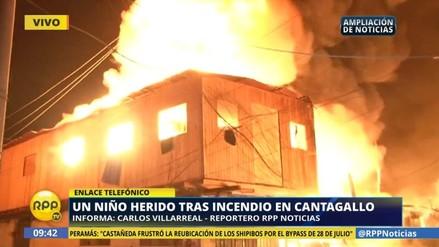 Un niño de 11 años resultó herido en el incendio en Cantagallo
