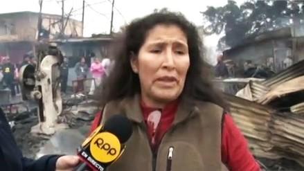 Vecina de Cantagallo salvó a sus hijos del incendio, pero su perro murió calcinado