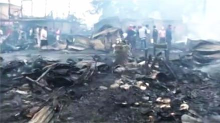 Así quedó la comunidad shipiba de Cantagallo en el Rímac tras el incendio