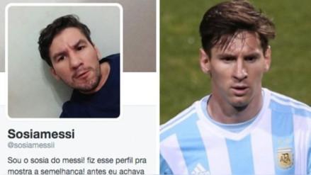 Brasileño gana fama por su parecido a Lionel Messi