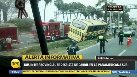 El despiste de un bus interprovincial en Lurín dejó 29 heridos