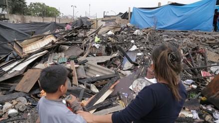 Así luce Cantagallo un día después el incendio que destruyó más de 300 viviendas