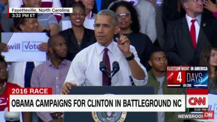Obama respondió así a un simpatizante de Trump que lo interrumpió