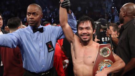 Manny Pacquiao derrotó a Jessie Vargas y ganó el título welter OMB