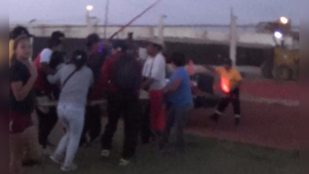 Chancay: jabalina terminó incrustada en pecho de joven deportista