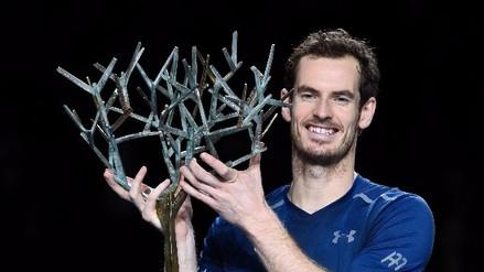 Andy Murray celebra su número 1 mundial coronándose en el Masters de París-Bercy