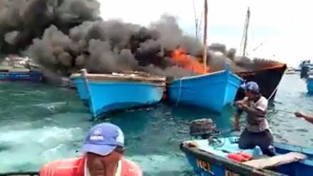 Cuatro pescadores heridos tras incendio de embarcación en Paita