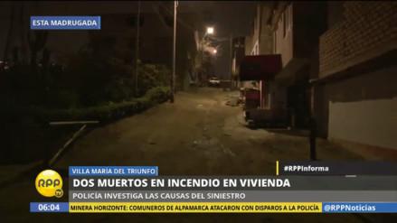 Dos muertos dejó incendio en una vivienda de Villa María del Triunfo
