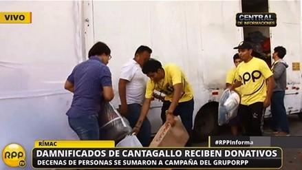 RPP Noticias entregó donativos para damnificados de Cantagallo