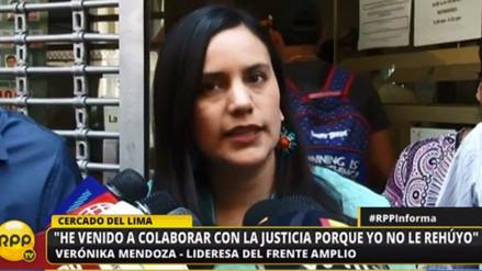 """Verónika Mendoza: """"Yo sí colaboro con la justicia"""""""
