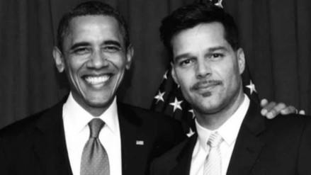 "Ricky Martin a Obama: ""Gracias por una presidencia tan extraordinaria"""