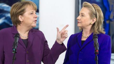 Merkel: La victoria de Clinton ayudaría a igualar a mujeres y hombres