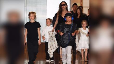 Angelina Jolie se quedó con la custodia de sus seis hijos