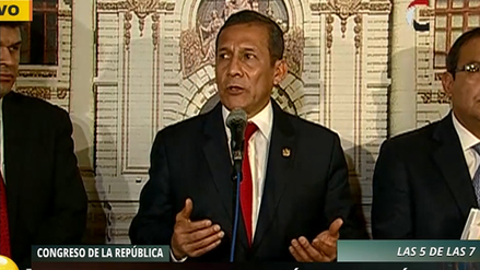 """Ollanta Humala: """"No hubo actos de corrupción en compra de satélite"""""""