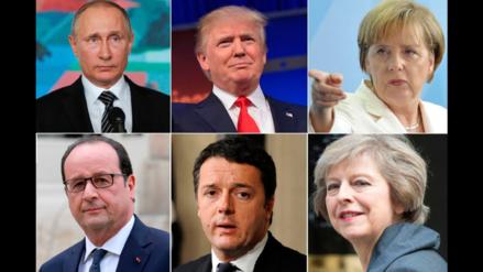 Los principales líderes europeos saludaron a Donald Trump