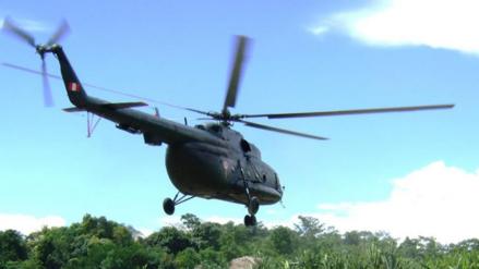 Bagua: helicóptero aterriza de emergencia en frontera Perú - Ecuador