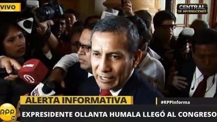 Ollanta Humala llega al Congreso para explicar compra de satélite