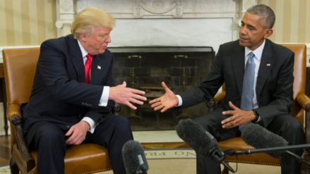 Obama y Trump se reunieron por primera vez en la Casa Blanca