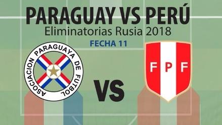 Versus de números entre las selecciones de Perú y Paraguay