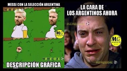 Memes se burlan de Messi tras derrota de Argentina ante Brasil