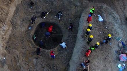 El rescate de un niño movilizó a 500 personas y 100 excavadoras