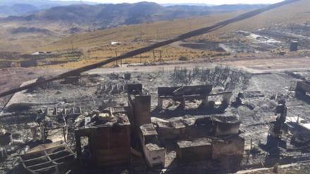Pobladores queman campamento minero en distrito de Quiñota