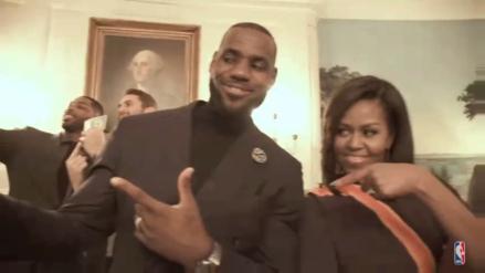 Los Cleveland Cavaliers, LeBron James y Michelle Obama realizaron un 'Mannequin Challenge'