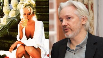 Captan a Pamela Anderson visitando nuevamente a Julian Assange
