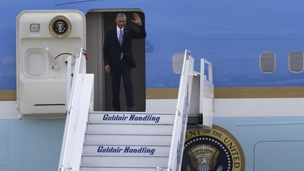 Barack Obama inició en Atenas su última gira internacional