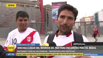 Hinchas peruanos llegan desde provincia para alentar a la Selección