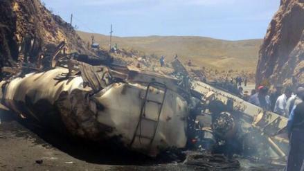 Conductor murió carbonizado tras explosión de cisterna de combustible