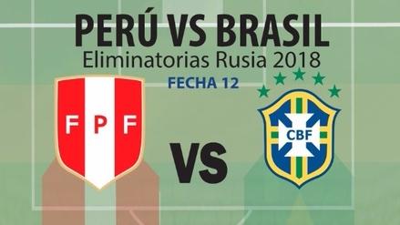 Perú en busca del triunfo más valioso de las Eliminatorias frente a Brasil