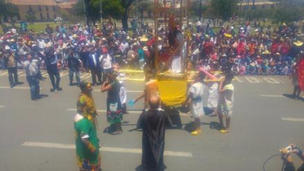 Escolares escenificaron encuentro entre Atahualpa y españoles