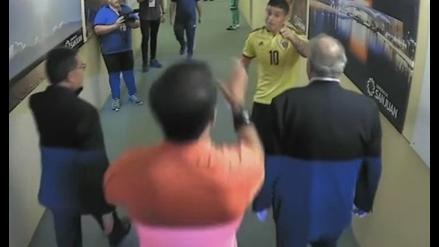James Rodríguez encaró al árbitro Roddy Zambrano en los camerinos