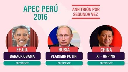Ellos son los líderes representantes que conforman el APEC Perú 2016