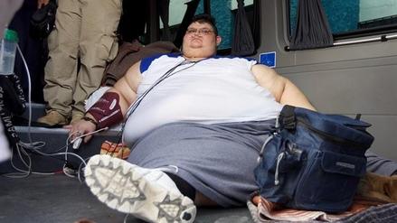 El hombre más obeso del mundo inicia un tratamiento para bajar de peso